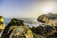 Portugal, Algarve, Coast near Porches at sunset - THAF001582