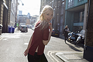 Portrait of attractive young woman on urban street - BOYF000185