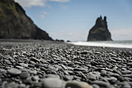 Iceland, Vik, pebble beach - PAF001705