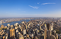 USA, New York City, view to Midtown Manhattan from above - HSIF000416