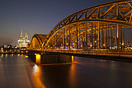 Germany, Cologne, view to lighted - WIF003294