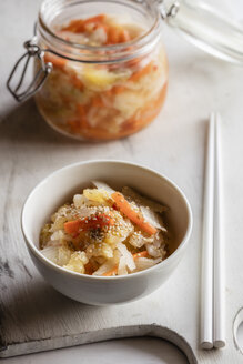 Kimchi, fermented Korean side dish made of vegetables - EVGF002850