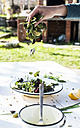 Spring salad of baby spinach, herbs, arugula and lettuce, preparing - DEGF000718