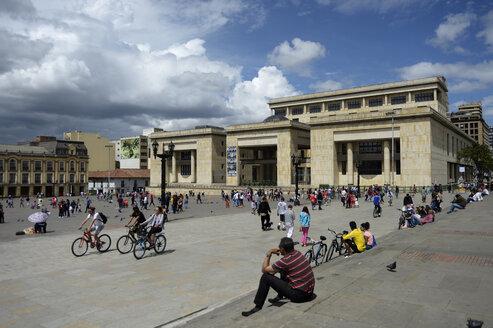 Colombia, Bogota, Plaza Bolivar, Palacio de Justicia - FLKF000634