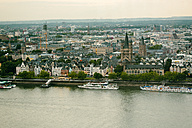 Germany, Cologne, view to cityscape with Gross Sankt Martin and city hall from above - TAMF000431