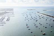 USA, Hawaii, Honolulu, Ke'ehi Boat Harbour, aerial view - BRF001271