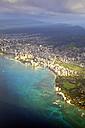 USA, Hawaii, Honolulu, Waikiki in the morning light - BRF001280