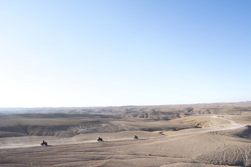Morocco, Quadbikes in desert of Agafay - LMF000566