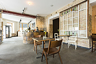 Indoor view of a modern coffee shop - TAMF000434