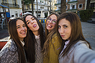 Four young women taking a selfie - KIJF000256