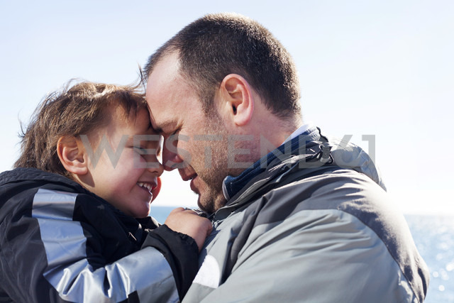Happy father and his little son head to head - VABF000387