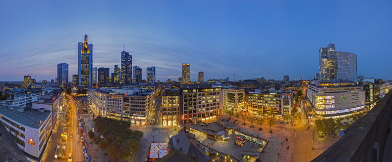 Germany, Hesse, Frankfurt Skyline in the evening - TIF000078