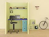 Children's room with modern desk, 3D Rendering - UWF000828