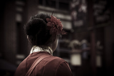 Canada, Vancouver, Chinese New Year, chinese woman with hair decoration - NG000314
