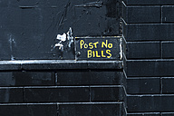 Post no bills, black wall - NGF000320