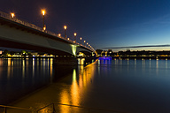 Germany, Bonn, view to lighted Kennedy Bridge - TAMF000445