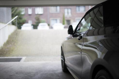 Germany, Car exiting underground car park - CHPF000226