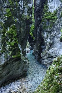 Slovenia, Tolmin, Triglav National Park, Tolmin Gorges - RUEF001671