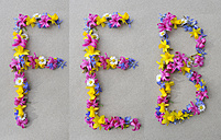 Flower arrangement building first three letters of february - GISF000205