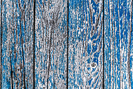 Bars with flaking blue colour, close-up - LCF000015