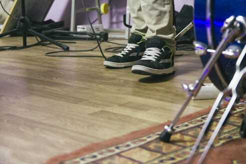 Feet of a musician during a music rehearsal - ABZF000318