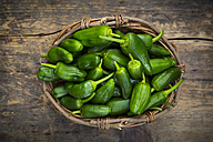 Wickerbasket of Pimientos de Padron - LVF004688