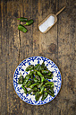 Plate of fried Pimientos de Padron - LVF004697