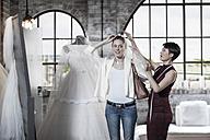 Wedding dress designer and bride to be, - ZEF008632