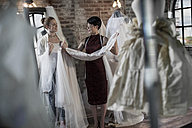 Wedding dress designer and bride to be - ZEF008635