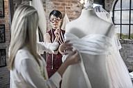Wedding dress designers working, dress form - ZEF008641