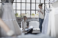 Wedding dress designer and bride to be - ZEF008662