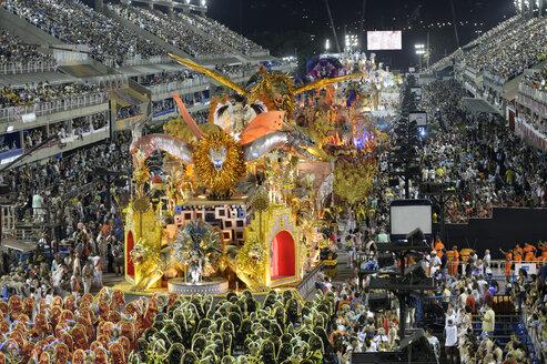 Brazil, Rio de Janeiro, Carnival float of Samba-school Estacio de Sa - FLK000669