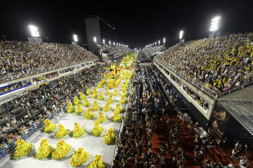 Brazil, Rio de Janeiro, Carnival float of Samba-school Imperatriz Leopoldinense - FLK000672
