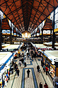 Hungary, Budapest, People shopping at Central Market - GEM000832