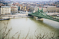 Hungary, Budapest, Liberty Bridge at Danube river - GEMF000841