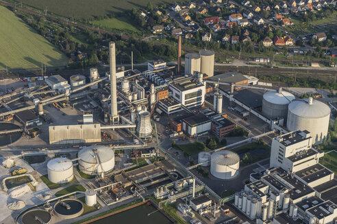 Germany, Lower Saxony, Hildesheim, Nordzucker AG Nordstemmen, aerial view - PVCF000821