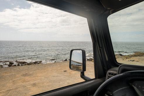 Spain, Tenerifa, beach seen from the car - SIPF000319