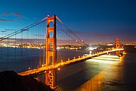 USA, California, San Francisco, Golden Gate Bridge at night - GIOF000818