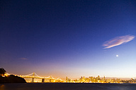 USA, Bay Bridge of San Francisco at night - GIOF000821
