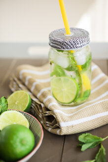Fresh Mojito in glass with drinking straw - JPF000128