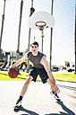USA, Los Angeles, basketball training - LEF000089
