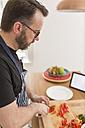 Man preparing vegetables in the kitchen - BOYF000250