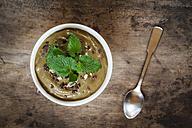 Smoothie Bowl with cocoa, avocado and melissa - EVGF002919