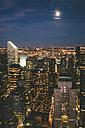 USA, New York City, Manhattan illuminated by night seen from above - GIOF000895