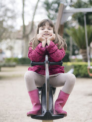 Portrait of girl on playground - XCF000081