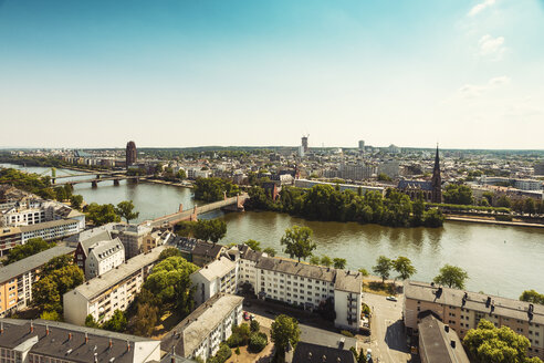 Germany, Hesse, Frankfurt, cityview and Main river - TAMF000465