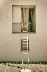 Ladder on open window - CMF000391