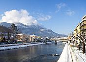 Austria, Bad Ischl, Traun river, Lehar-Villa, Katrin mountain, Osterhorngruppe in background - WWF003980