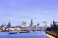 UK, London, skyline with River Thames at dawn - BRF001338