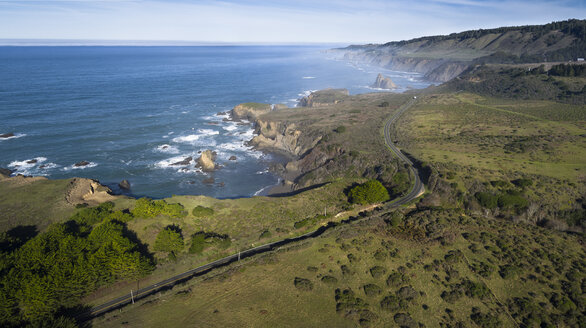 USA, California, aerial view of Highway 1 - STCF000196